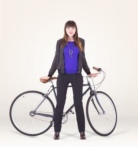 Casual/commuter/wheeled pedestrian cyclist trousers for ladies - by #Iladora, made in #SanFrancisco.