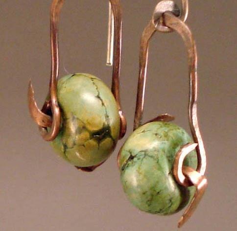 great earrings, original findings...looks like something i would do...
