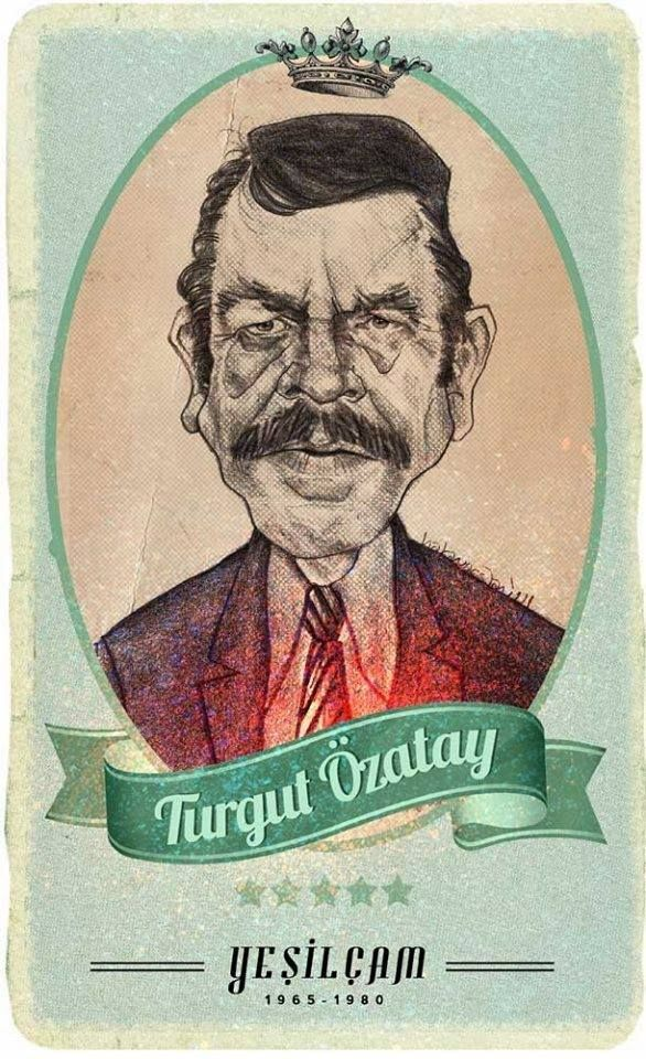 #Yesilcam Turkish Cinema Actor Turgut Özatay #Illustration by Hakan Arslan Yeşilçam Kötüleri Hakan Arslan http://hakkanarslan.blogspot.com.tr/search?updated-max=2014-09-18T14:36:00-07:00&max-results=500&m=1