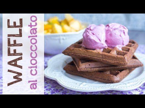 Waffle di farro monococco al cioccolato | Video ricetta