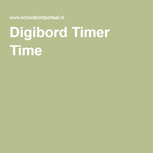 Digibord Timer Time