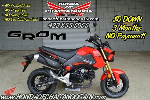 2015 Honda Grom For Sale - Chattanooga TN / Atlanta, North GA, AL area Motorcycle Dealer. 2015 Honda SportBike Models / Lineup at Honda of Chattanooga www.HondaofChattanoogaTN.com