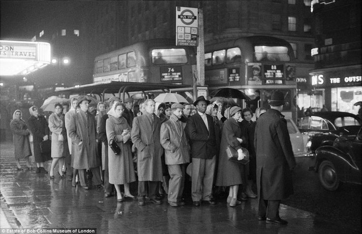 Many things have changed in central London since 1960, but some things have remained depressingly similar - including the capital's wet weather.