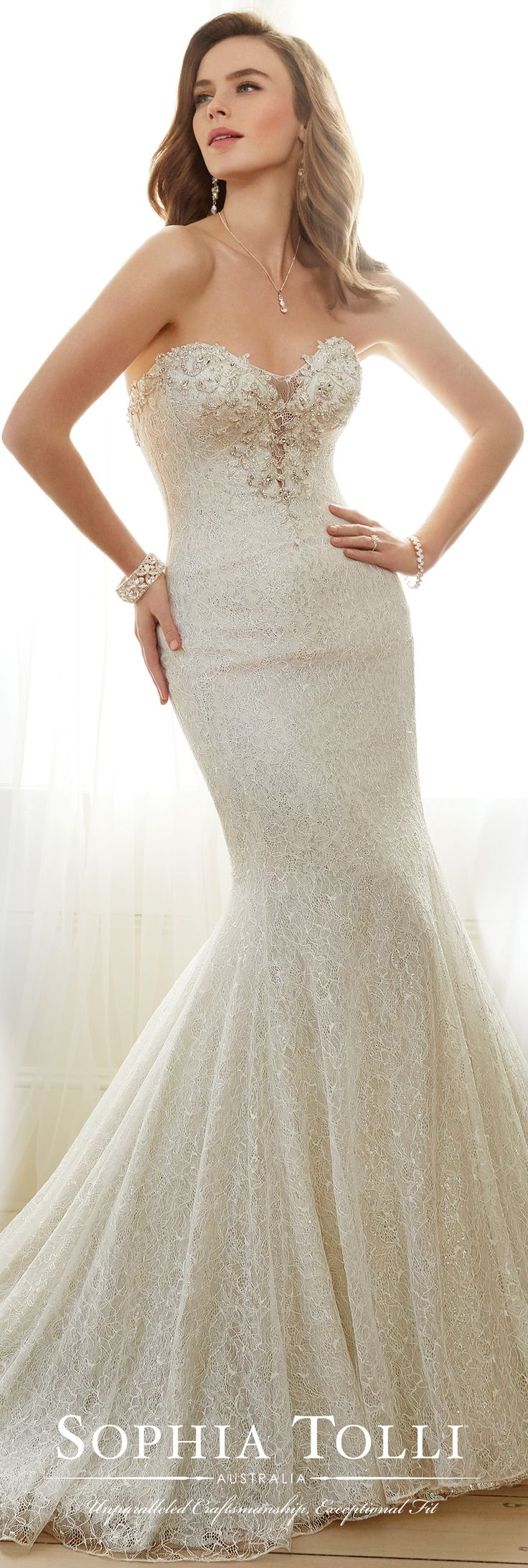 85 best Mermaid Wedding Dresses images on Pinterest | Wedding frocks ...
