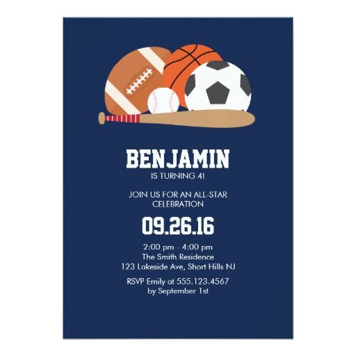442 best Sports Birthday Party Invitations images – Sport Birthday Invitations