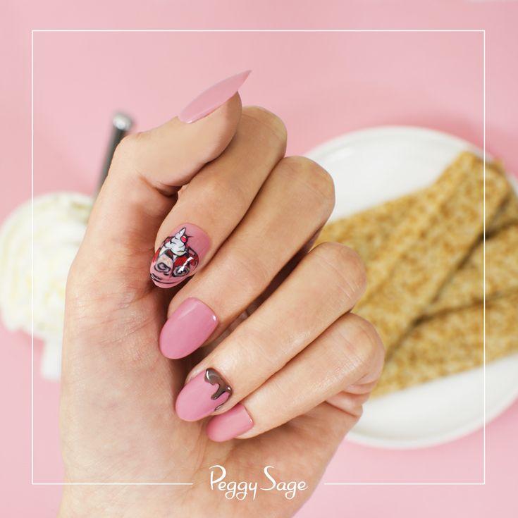 C'est la Chandeleur ! Peggy Sage a opté pour un nail art gourmand en accompagnement des traditionnelles crêpes !  Un nail art en vernis semi-permanent I LAK .