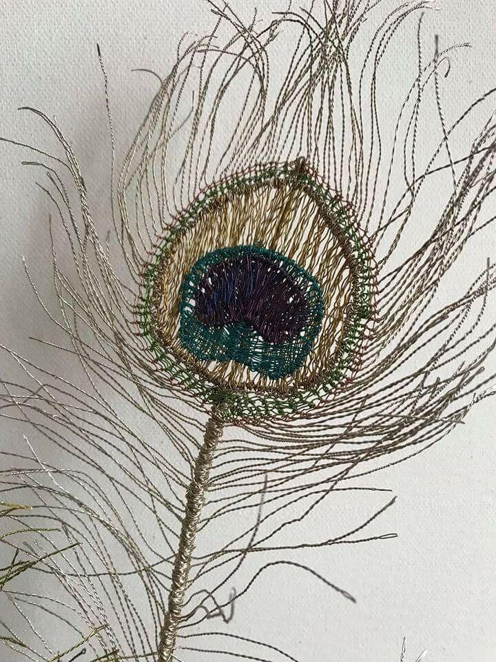 Wire Peacock feather