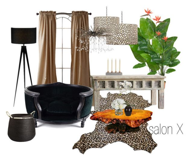 salon X by a-filipczak on Polyvore featuring interior, interiors, interior design, dom, home decor, interior decorating, Lord Lou, Adesso, Diane James and Nearly Natural