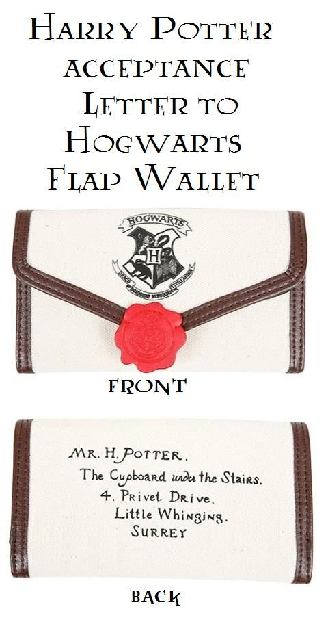Harry Potter Hogwarts Letter Flap Wallet                                                                                                                                                                                 More