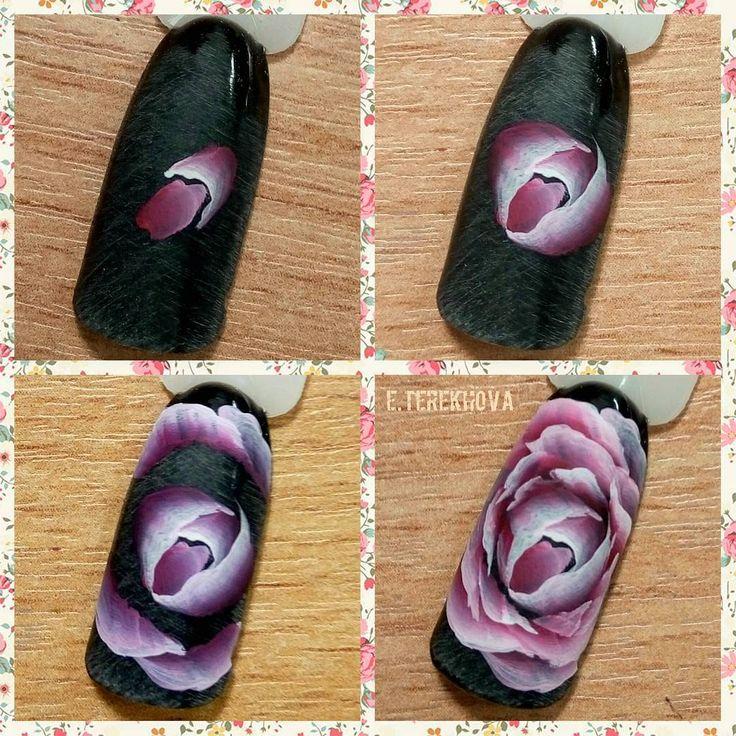 #nailarttutorial #rosenail