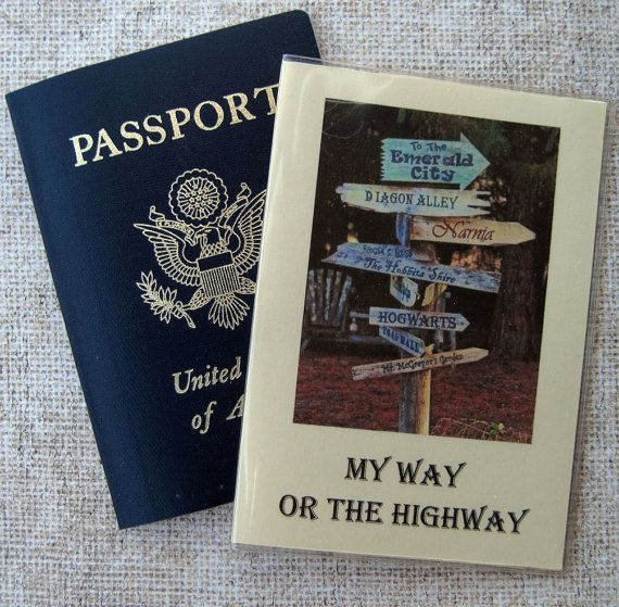 Passport Cover Case Holder with My Way or the Highway ...