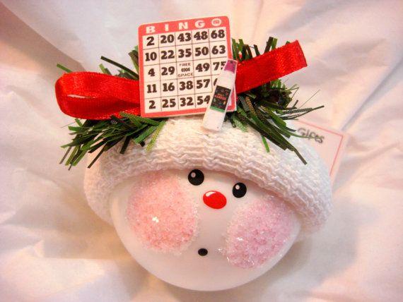 Bingo Christmas Ornaments Card Dauber Personalized Hand