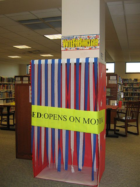 "Vote for Books! Maybe have ""Patron's Choice"" Awards?    Voting Booth by Grayslake Library, via Flickr"