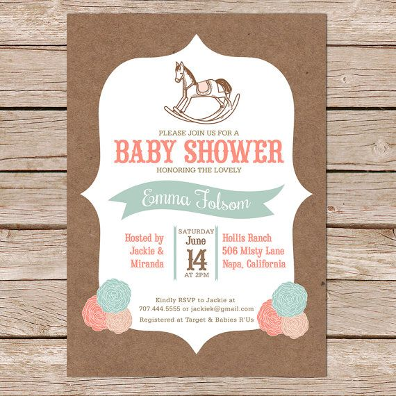 Rustic baby shower / Country baby shower / kraft by paperhive