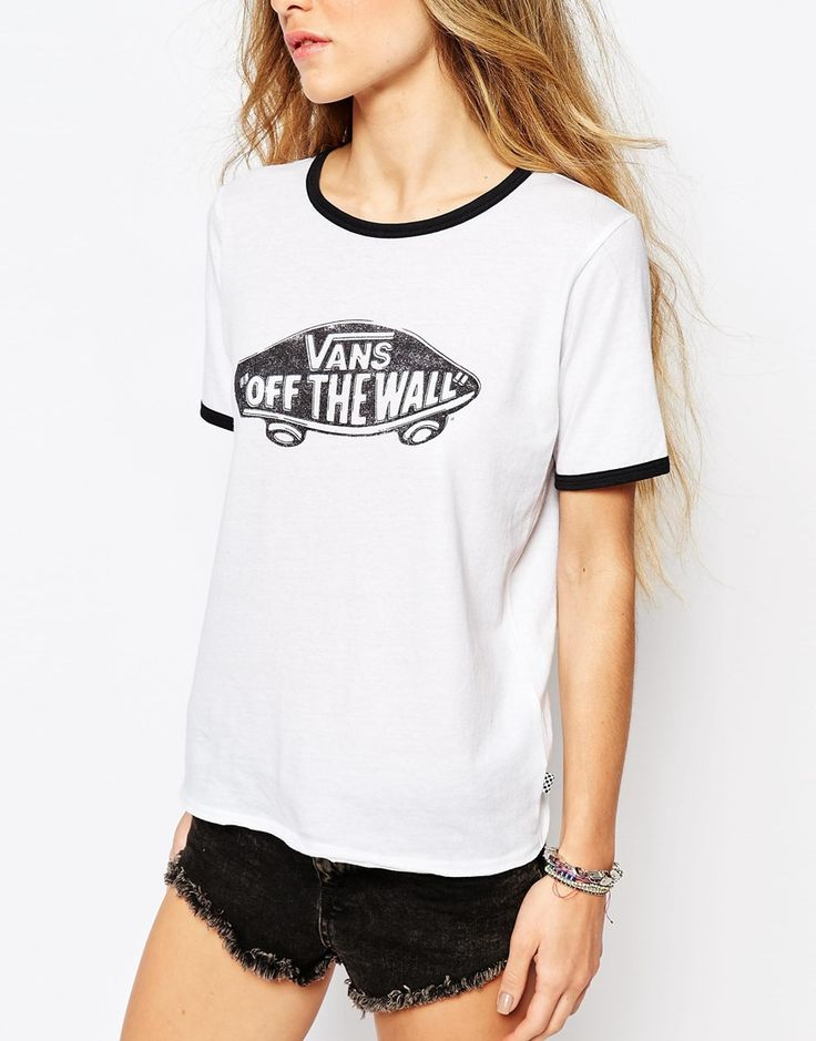 Image 3 ofVans Fitted Retro Ringer T-Shirt With Contrast Piping & Off The Wall Logo