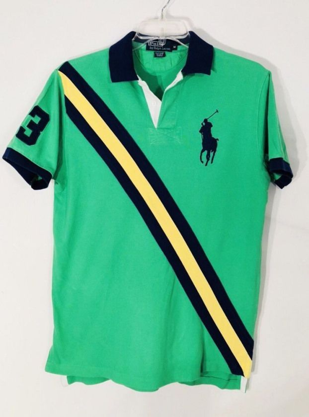 66f3236c5 Ralph Lauren Men's Polo Rugby Shirt Size Medium M Classic Fit Big Pony #3  EUC #PoloRalphLauren #PoloRugby #men'spolo #men's #polo