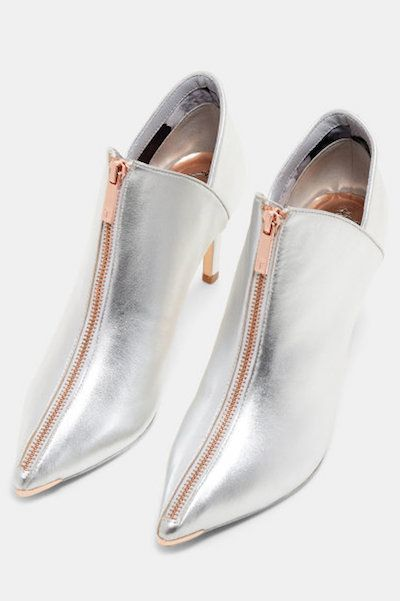 "81be613fbe22af Ted Baker London ""Millae"" Zip-up Suede Ankle Boots in silver ..."
