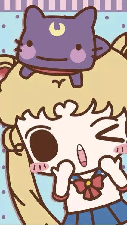 """Wallpaper"" Sailor Moon Luna Usagi Tsukino Serena iphone 6"