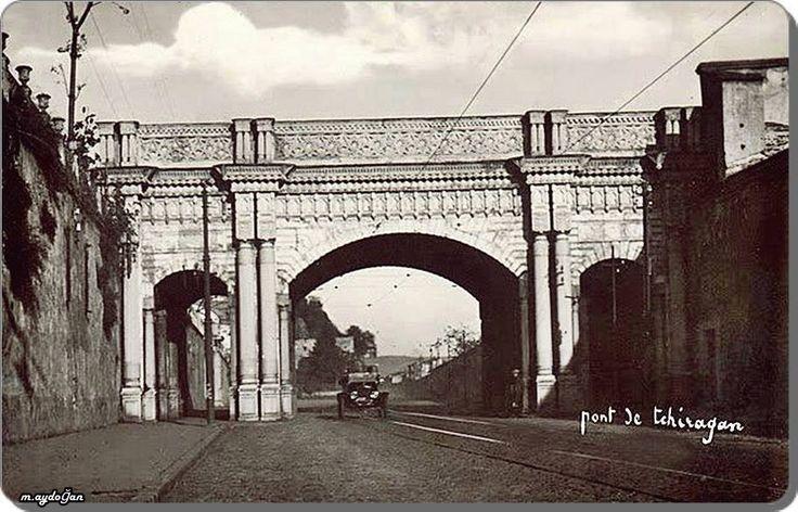 1930 'larda Beşiktaş - Çırağan yolu..