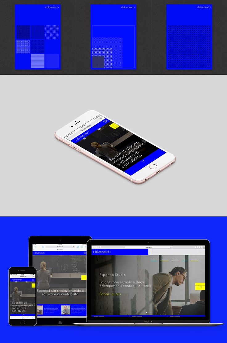 Brand system and identity for Bluenext, a financial software company based in…