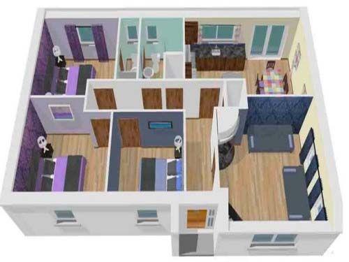 gambar desain rumah sederhana 3 kamar