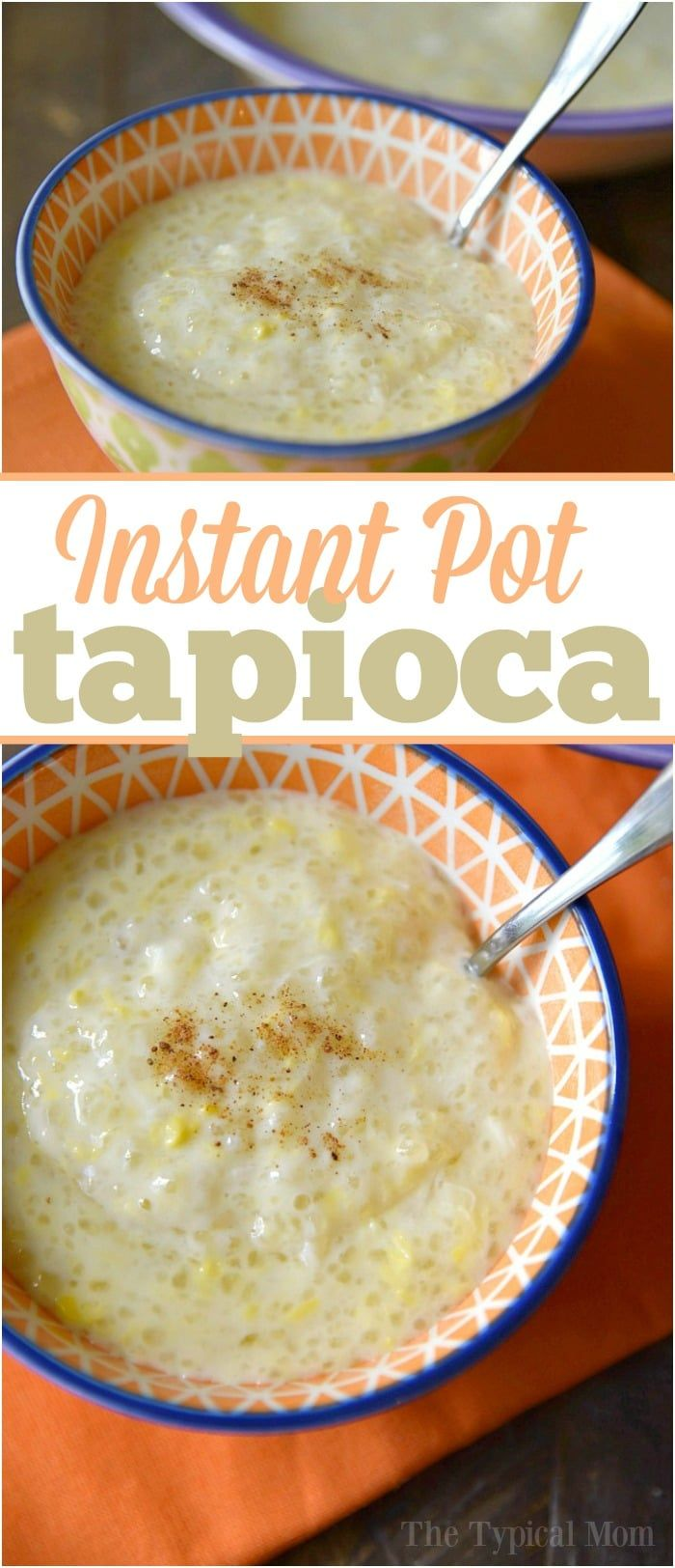 Easy Instant Pot tapioca pudding recipe that takes less than 10 minutes and requires less work than on the stovetop. Great pressure cooker tapioca pudding. via @thetypicalmom