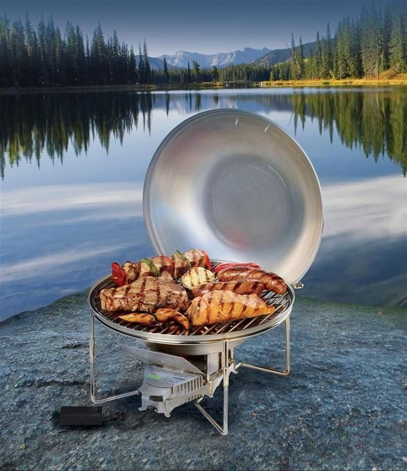 Portable Stainless Steel Wood Burning BBQ Grillgreat For Camping