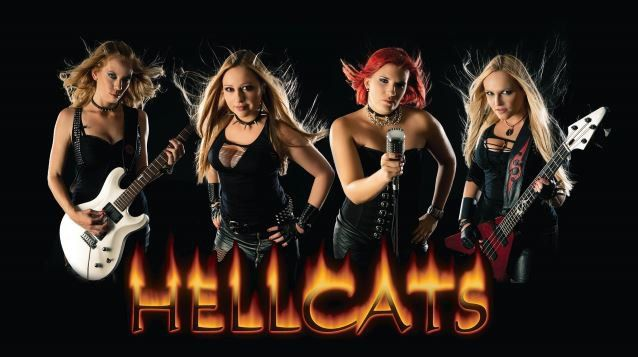 slovenian all female heavy metal band hellcats releases 39 demon dreams 39 video glasba is music. Black Bedroom Furniture Sets. Home Design Ideas