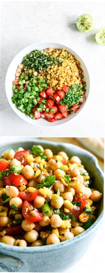 Super Simple Summer Chickpea Salad I howsweeteats.com