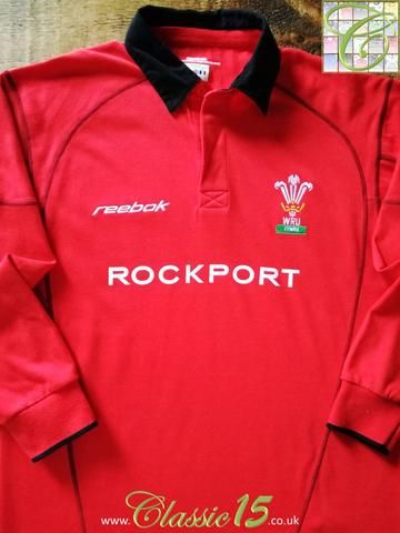Official Reebok Wales home long sleeve rugby shirt from the 2002/2003 international season.