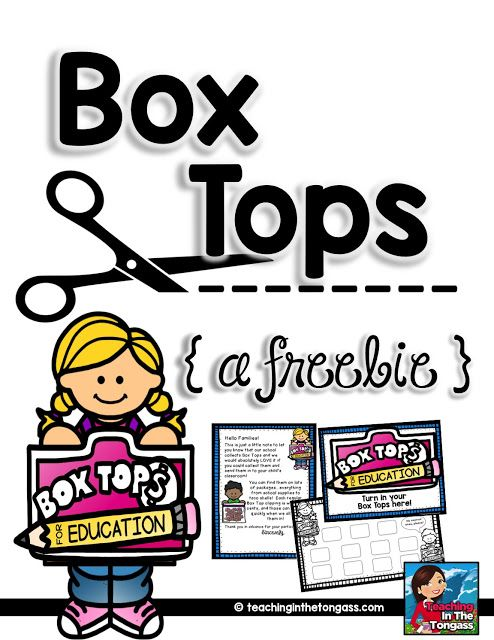 Box Top Teacher Kit: labels, parent letters and more!
