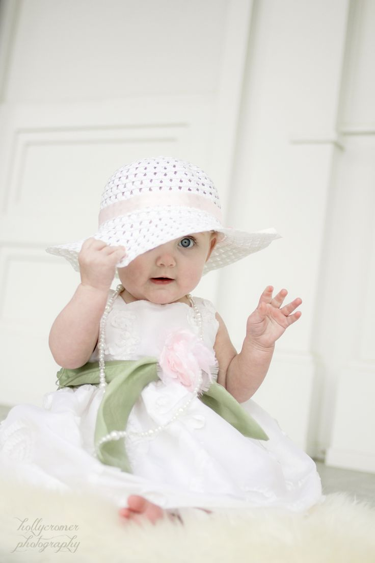 6 month old baby girl in easter dress holly cromer. Black Bedroom Furniture Sets. Home Design Ideas