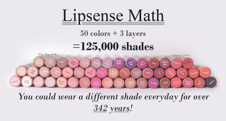 How many different lipstick shades can you create from your lip color? The options are endless with LipSense long-lasting lip color. Smudgeproof, budgeproof, kissproof, waterproof, this stuff isn't going anywhere :) Why waste your time reapplying? I'll hook you up :) Lips by Stephie 406510