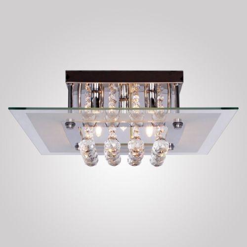 Square Crystal Ceiling Light Pendant 5-Lamp Chandelier for Living Room Bedroom #Modern allie bath light