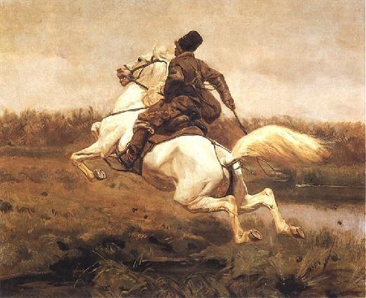 Józef Chełmoński, Kozak na koniu / Cossack on horseback, 1907, oil on canvas, 105 x 136 cm, Muzeum Narodowe w Warszawie