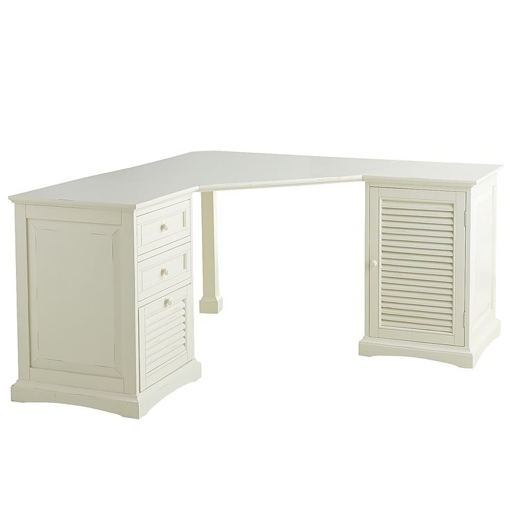Plantation Corner Desk   Antique White   Wood. 97 best  Office Furniture   Desks  images on Pinterest   Office