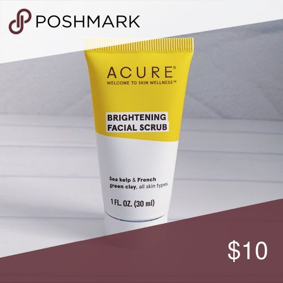 2/$15 Acure Brightening Facial Scrub Brand New Unopened