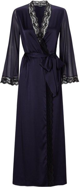 Myla Midnight Silk Isabella Robe - Lyst