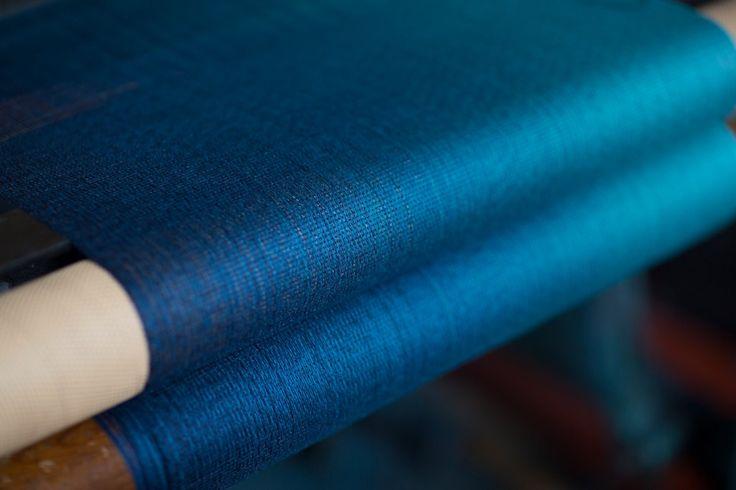 Cosmo Scarf on the Loom | McKernan Woollen Mills | Handmade scarves | Made in Ireland | Irish Design | Women's Accessories | Weaving | Knitting