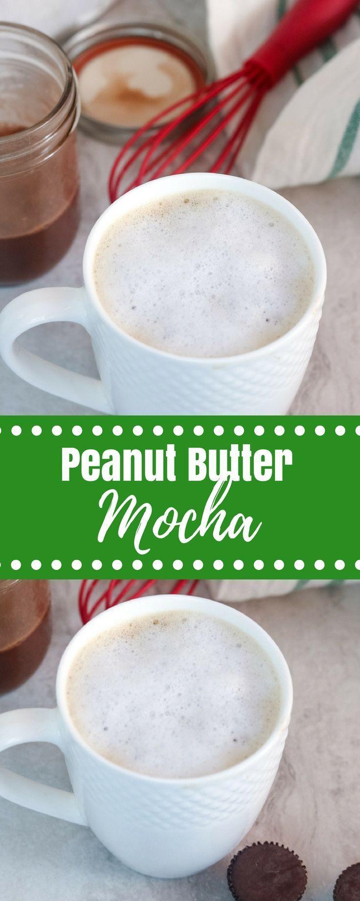 Peanut Butter Coffee A Creamy Dreamy Blend Of Homemade Chocolate Peanut Butter Syrup Espresso And Steamed Peanut Butter Coffee Butter Coffee Homemade Mocha