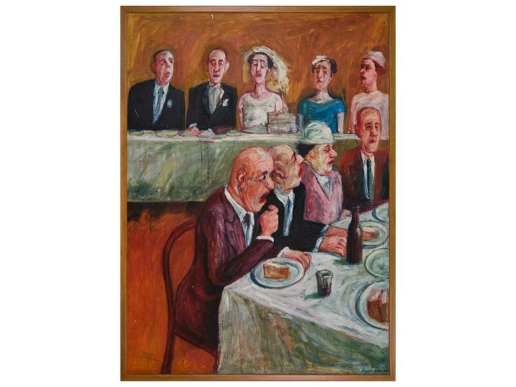 Wedding breakfast, date unknown, Bryan Dew, (b.1940, d.2006), purchased by Friends of Hawke's Bay Cultural Trust, collection of Hawke's Bay Museums Trust, Ruawharo Tā-ū-rangi, 2008/5
