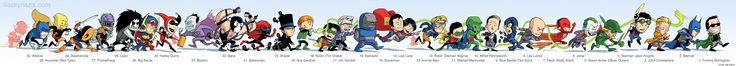 30 DC Comics Characters Drawn In The Best Single File Line Ever [Art]
