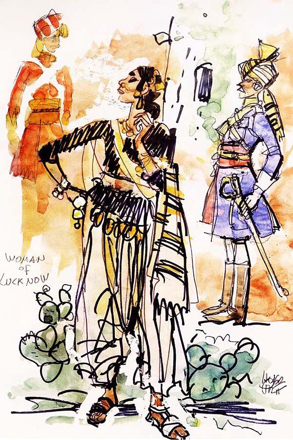 Hugo Pratt - Kipling (1993) - Woman of Lucknow
