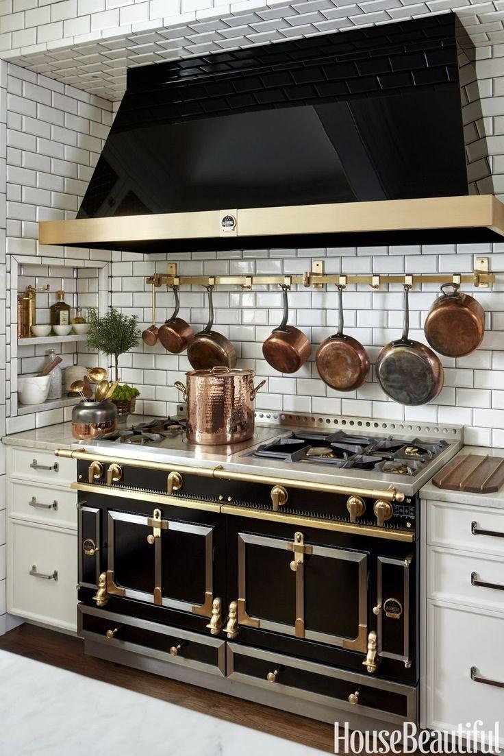 12 Black Kitchens - Black Cabinet and Backsplash Ideas