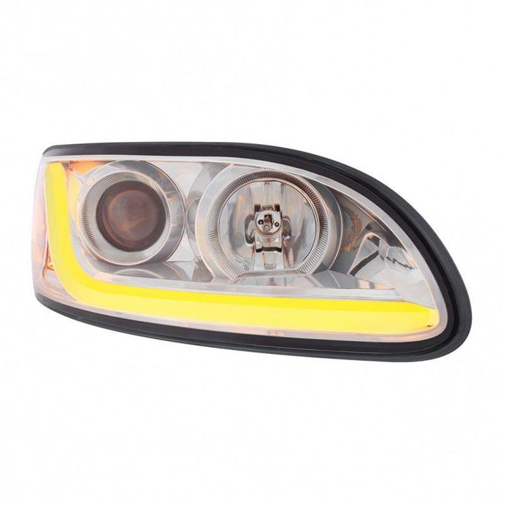 """Chrome"" Peterbilt 386/387 Projection Headlight - Passenger H1-H7"