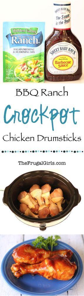 Crockpot BBQ Ranch Chicken Drumsticks Recipe! | The Frugal Girls | Bloglovin'