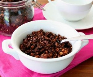 Chocolate Hazelnut Granola @dreamaboutfood