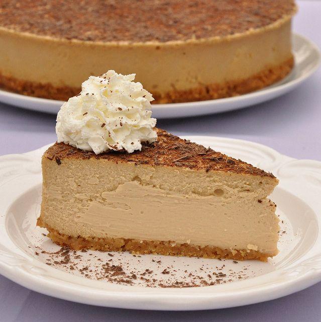 Slice of Tiramisu Cheesecake