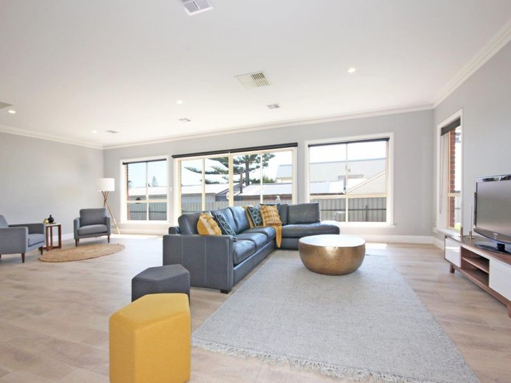 Property in Moana. Kevin J. Barry, Professionals Christies Beach 08 8382 3773. #yellow #livingroom #gold