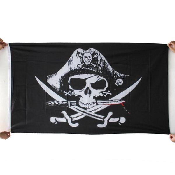 Bandiera Pirati 150 x 90 cm Top Quality Pirates Flag Halloween